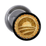 """We Want Pie!"" Obama Pie Button"