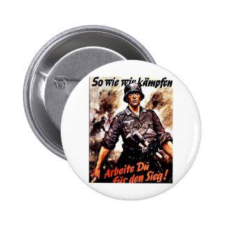 We Wie Wir Kampfen 6 Cm Round Badge