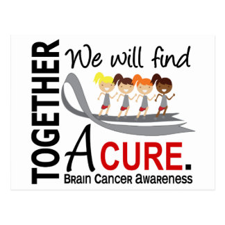 We Will Find A Cure Brain Cancer Postcard