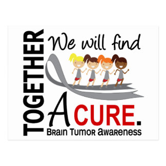 We Will Find A Cure Brain Tumor Postcard