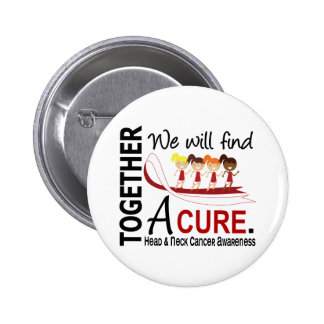 We Will Find A Cure Head And Neck Cancer 6 Cm Round Badge