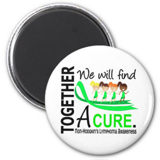 We Will Find A Cure Non-Hodgkin's Lymphoma 6 Cm Round Magnet