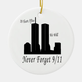 We Will Never Forget 9/11 Christmas Ornament