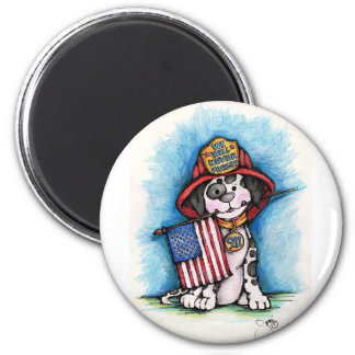 We Will Never Forget 9/11 Firefighter Dalmatian Magnet