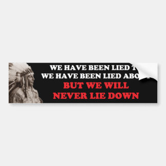 WE WILL NEVER LIE DOWN BUMPER STICKERS