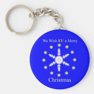 We wish EU a merry christmas Key Ring
