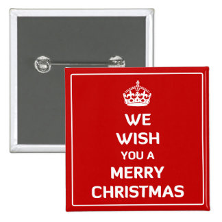 We Wish You A Merry Christmas Pinback Button