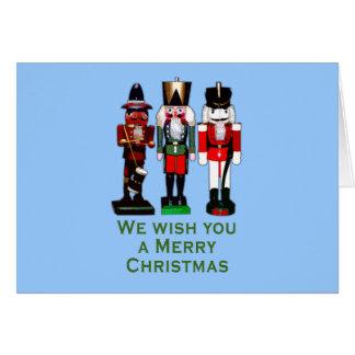 We Wish You a Merry Christmas Nutcrackers Card