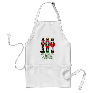 We Wish You a Merry Christmas Nutcrackers Standard Apron