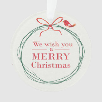 'We Wish You a Merry Christmas' Ornament
