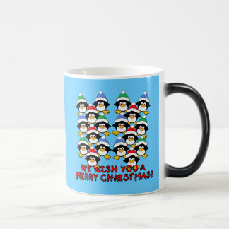 WE WISH YOU A MERRY CHRISTMAS PENGUINS MUGS