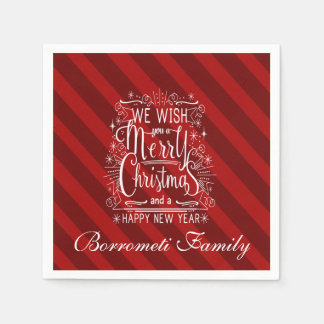 We Wish You A Merry Christmas personalized Napkin Disposable Napkins