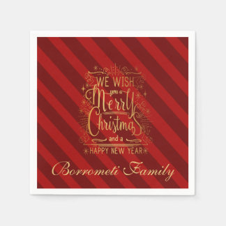 We Wish You A Merry Christmas personalized Napkin Disposable Serviette
