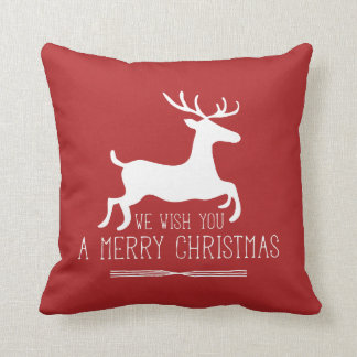 We Wish You a Merry Christmas | Red Cushion