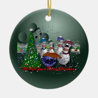We Wish You a Merry Christmas Round Ceramic Decoration