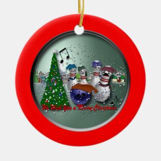 We Wish You a Merry Christmas Round Ceramic Decoration