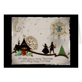 We Wish You a Merry Christmas Silhouette Card