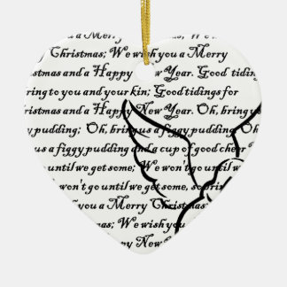 We wish you a Merry Christmas tree ornament