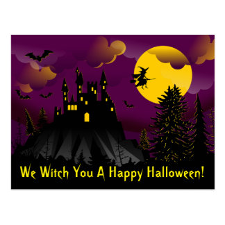 We Witch You A Happy Halloween Postcard