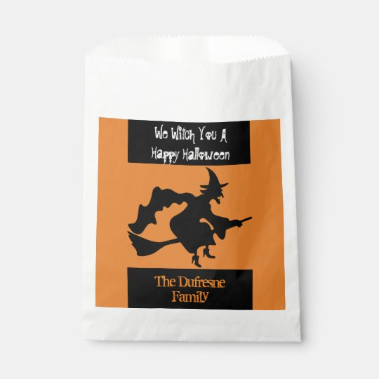 """We Witch You A Happy Halloween"" Treat Favour Bags"