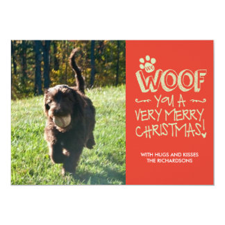 We Woof You a Merry Christmas 13 Cm X 18 Cm Invitation Card