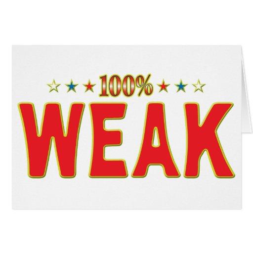 Weak Star Tag Card