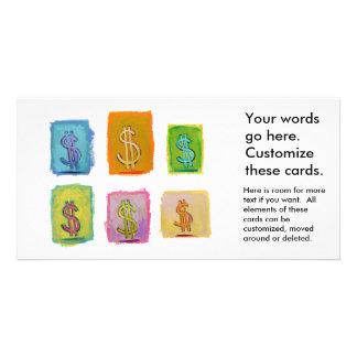 Wealth money abundance fundraising fun happy art picture card
