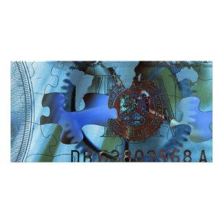 Wealth Puzzle Custom Photo Card