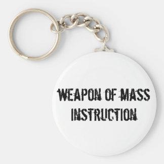 Weapon of mass instruction key ring