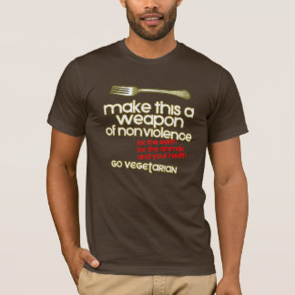 Weapon of nonviolence Vegetarian T-shirt