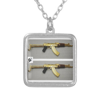 Weapon style Small sterling silver plated necklace