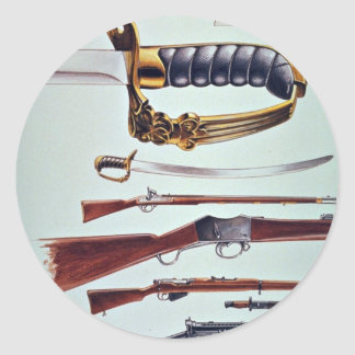 Weapons, 17th century to World War II Round Stickers
