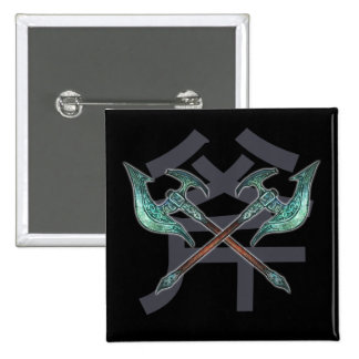 Weapons Button - Twin Axe 斧 Design