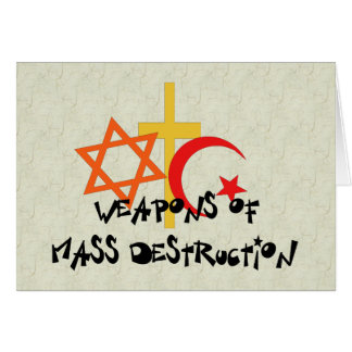 Weapons Of Mass Destruction Note Card