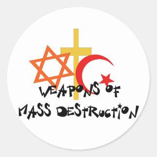Weapons Of Mass Destruction Classic Round Sticker