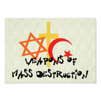 Weapons Of Mass Destruction Personalized Announcement
