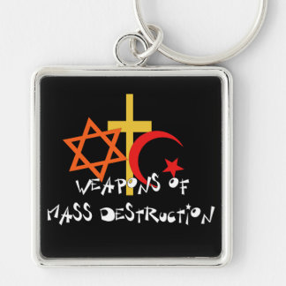 Weapons Of Mass Destruction Silver-Colored Square Key Ring