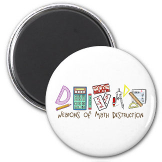 Weapons Of Math Destruction 6 Cm Round Magnet