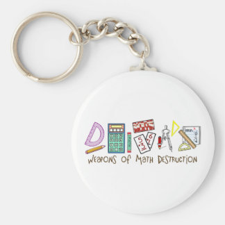Weapons Of Math Destruction Basic Round Button Key Ring