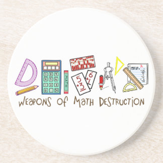Weapons Of Math Destruction Drink Coaster