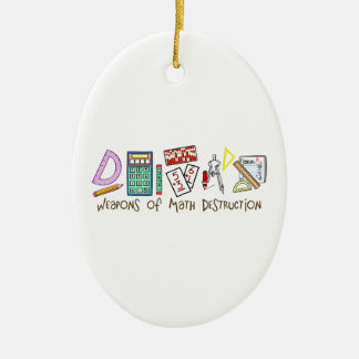 Weapons Of Math Destruction Double-Sided Oval Ceramic Christmas Ornament