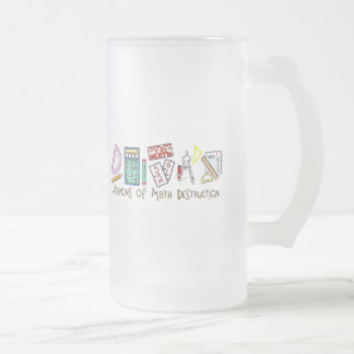 Weapons Of Math Destruction Frosted Glass Mug
