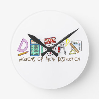 Weapons Of Math Destruction Round Clock