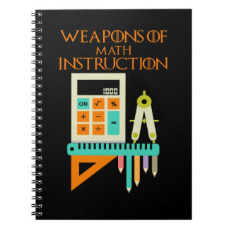 Weapons of Math Instruction! Notebooks