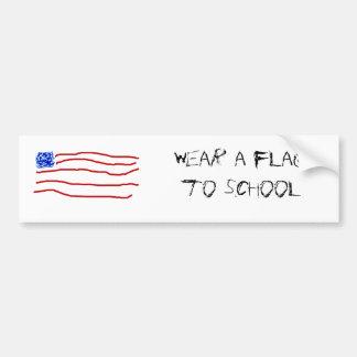 wear a flag to school bumper sticker