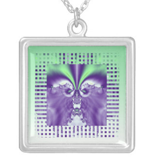 Wear A Fractal: Green and Purple Necklace