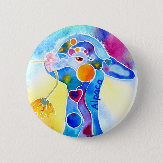 Wear Alpaca for the Warm Fuzzies 6 Cm Round Badge