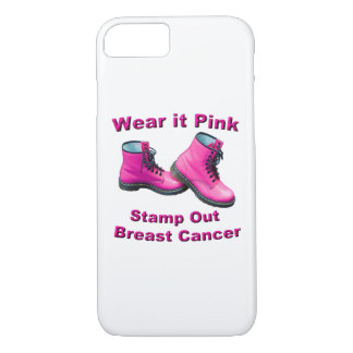 Wear It Pink Stamp Out Breast Cancer iPhone 7 Case