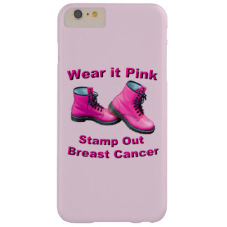 Wear It Pink Stamp Out Breast Cancer iPhone Case Barely There iPhone 6 Plus Case