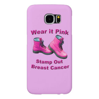 Wear It Pink Stamp Out Breast Cancer Samsung Galaxy S6 Cases